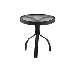 Woodard Deluxe 18 inch round Glass Top End Table - 826604W