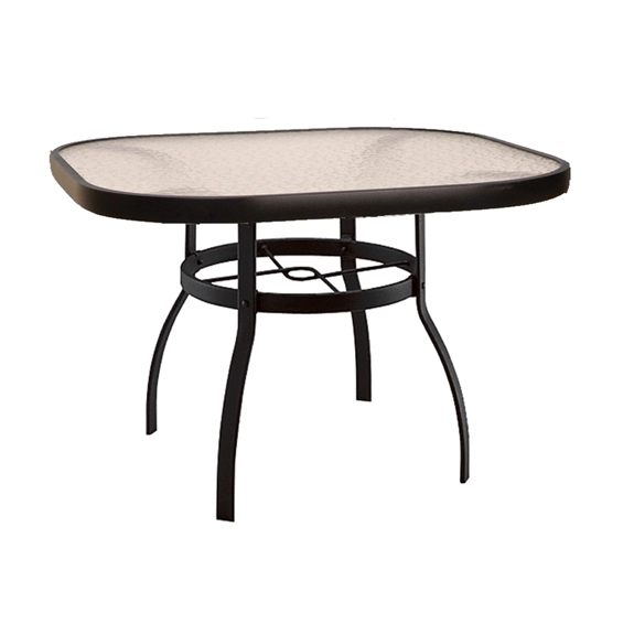 woodard deluxe 42 square glass top dining table 826140w
