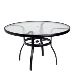 Woodard Deluxe 48 inch round Glass Top Dining Table - 827148W