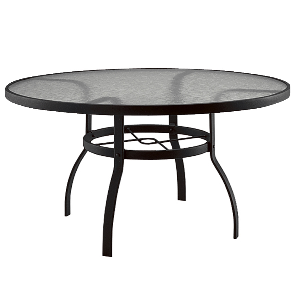 Woodard Deluxe 60 Inch Round Glass Top Dining Table 827360w