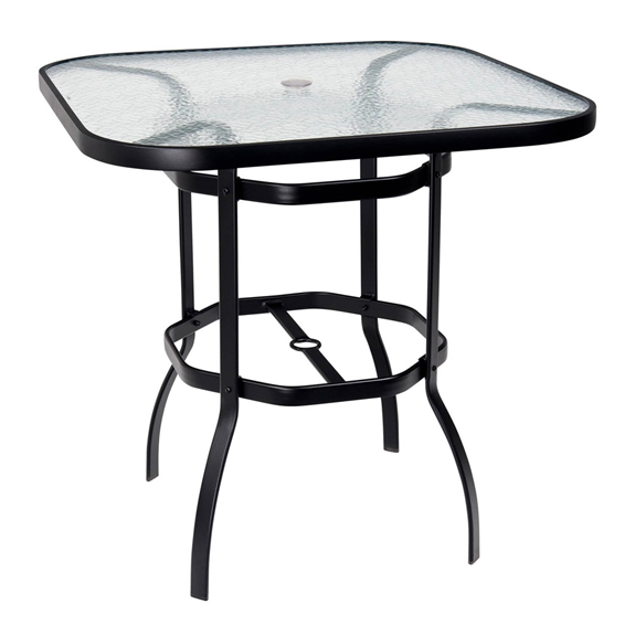 Woodard Deluxe 42 Quot Square Glass Top Bar Table 826538w