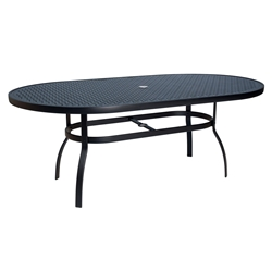 Woodard Deluxe Lattice Top Oval Dining Table - 826174WL