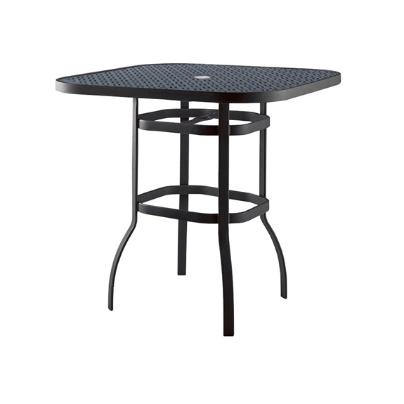 Woodard deluxe 42 inch square lattice top bar table 826542wl for Table 52 botswana