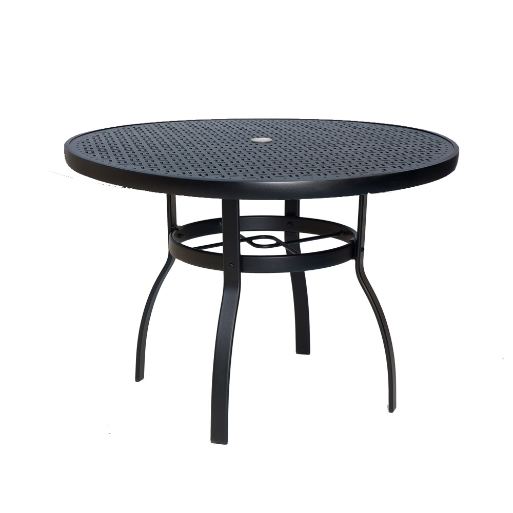 woodard deluxe 36 inch round lattice top dining table