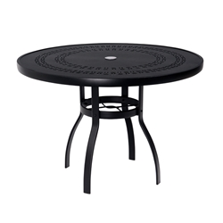 Woodard Deluxe 42 inch round Trellis Top Dining Table - 820142A