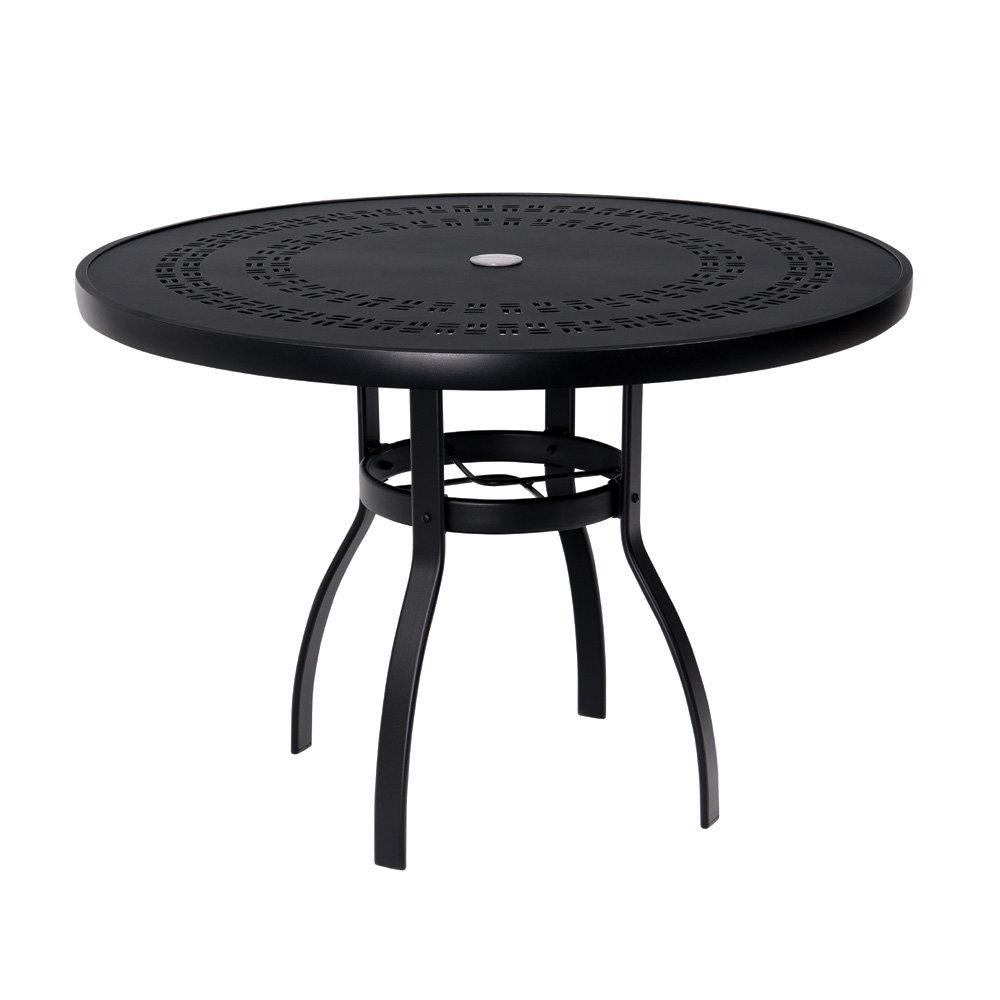 Woodard Deluxe 42 Inch Round Trellis Top Dining Table