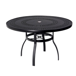 Woodard Deluxe 48 inch round Trellis Top Dining Table - 820148A