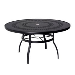 Woodard Deluxe 54 inch round Trellis Top Dining Table - 820154A