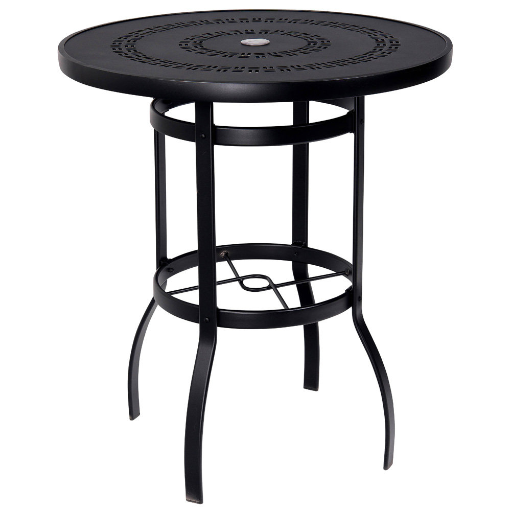 Woodard Deluxe 36 Inch Round Trellis Top Bar Table 820536a