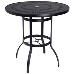Woodard Deluxe 42 inch square Trellis Top Bar Table - 820542A