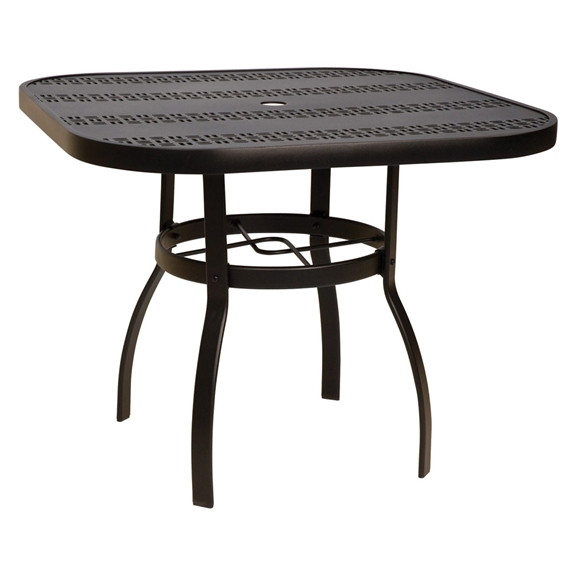 Woodard Deluxe 36 Inch Square Trellis Top Dining Table