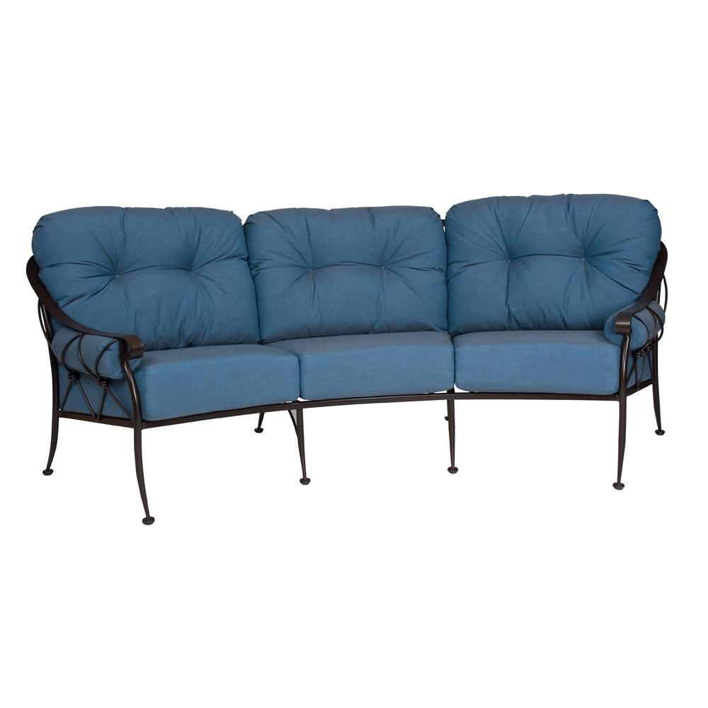Woodard Derby Crescent Sofa   4T0064