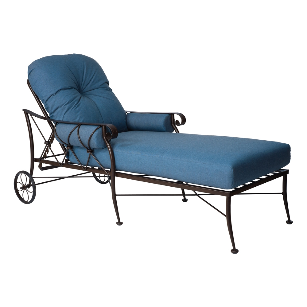 Woodard Derby Wrought Iron Adjustable Chaise Lounge