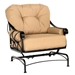 Derby Crescent Loveseat and Lounge Chair Fire Table Set - WD-DERBY-SET2