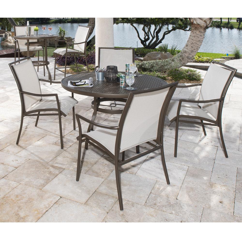 Woodard Sling Patio Furniture.Woodard Dominica Sling Patio Dining Set Wd Dominica Set2