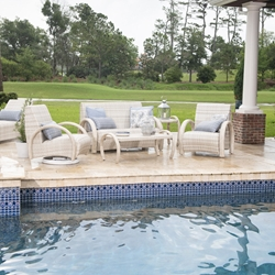 Woodard Eclipse Wicker Patio Set with Loveseat and Lounge Chairs - WD-ECLIPSE-SET1