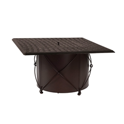 Woodard Derby Wrought Iron Table Base with Square Burner  - 4TM338