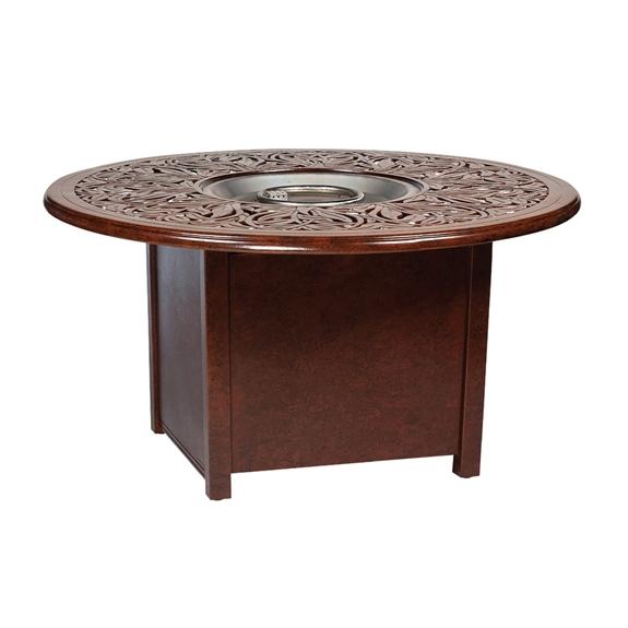 Woodard woodard napa fire pit table 650748 03148fp for Table 52 botswana