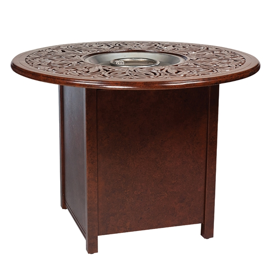 Woodard Counter Height Aluminum Fire Pit Table With Napa