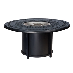 Woodard Round Base Aluminum Chat Fire Table - 65M747