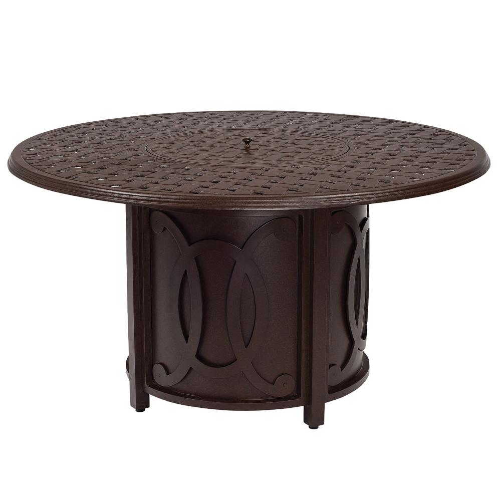 Woodard belden round fire table 69m747 for Table 52 botswana