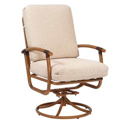 Woodard Glade Isle Cushion Swivel Rocker Dining Arm Chair - 1T0472