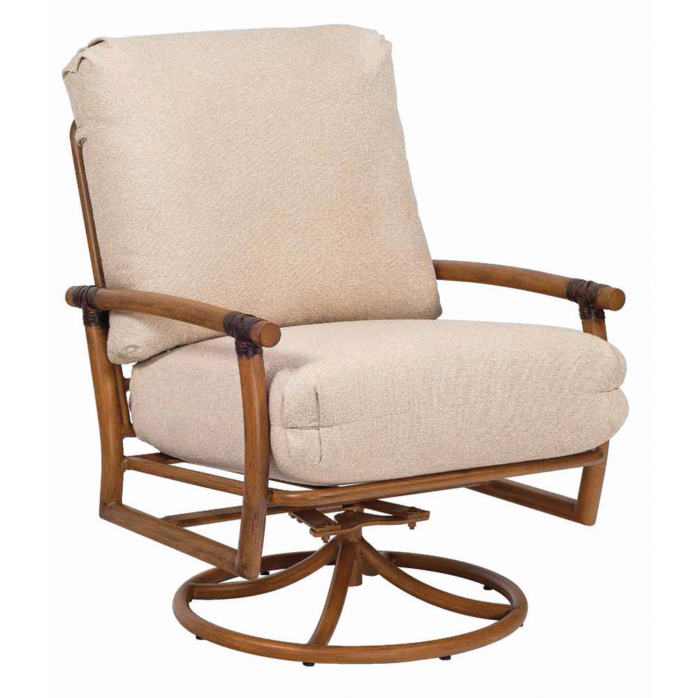 Woodard Glade Isle Cushion Swivel Rocking Lounge Chair - 1T0477