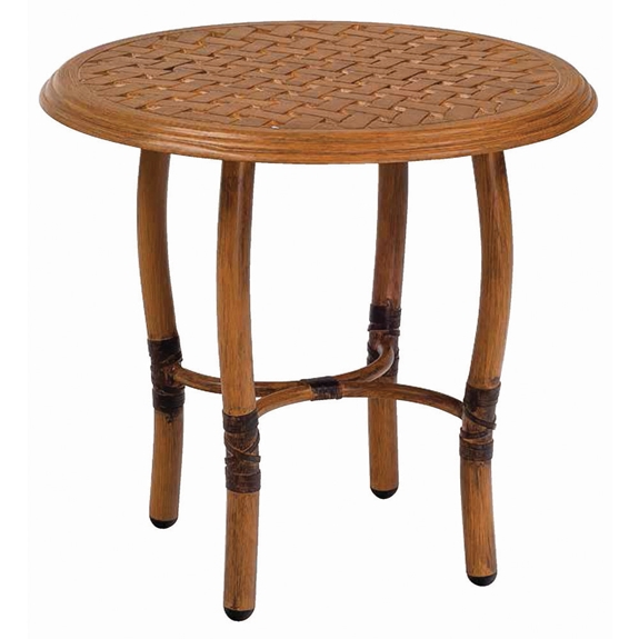 Woodard glade isle 22 inch round end table 1t24bt for Table 52 botswana