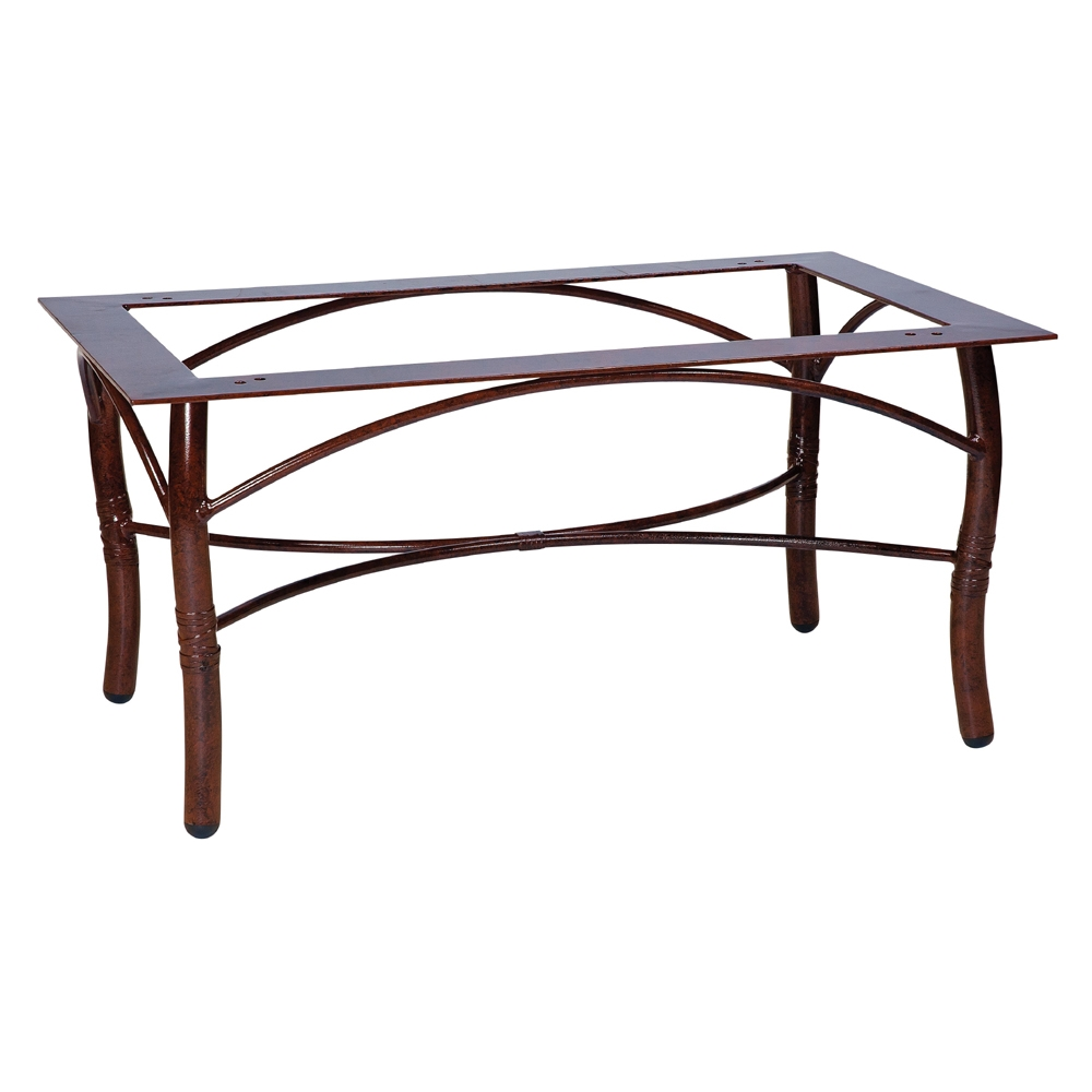 Woodard Glade Isle Rectangular Coffee Table Base - 1T4300
