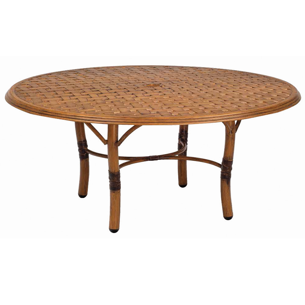 Woodard glade isle 36 inch round coffee table 1t54bt for 50 inch round coffee table