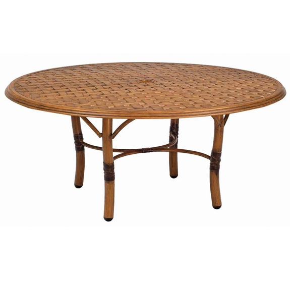 Woodard glade isle 36 inch round coffee table 1t54bt for Table 52 botswana
