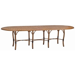 Woodard Glade Isle Oval Dining Table - 1T84BT