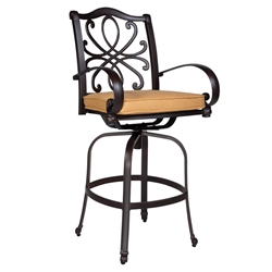 Woodard Holland Swivel Bar Stool - 7z0468