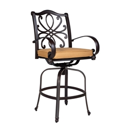 Woodard Holland Swivel Counter Stool - 7z0469