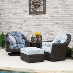 Woodard Isabella Hyacinth Lounge Chair Patio Set - WC-ISABELLA-SET3