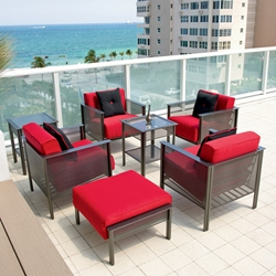 Woodard Jax Club Chair Chat Set - 2J00-06-33-86