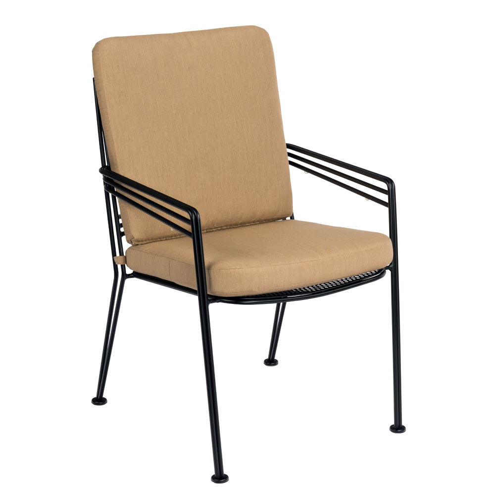 Woodard Madison Stackable Dining Chair with Full Cushion - 2D0017SB