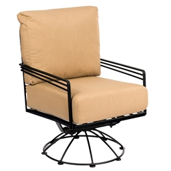Woodard Madison Wrought Iron Swivel Rocking Lounge Chair - 2D0077