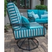 Woodard Madison Wrought Iron Lounge Chair Side Detail