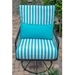 Woodard Madison Wrought Iron Lounge Chair with Lumbar Cushion
