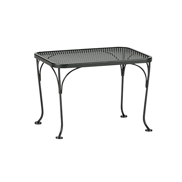 Woodard 18 Inch By 24 Inch Mesh Top Rectangle Side Table