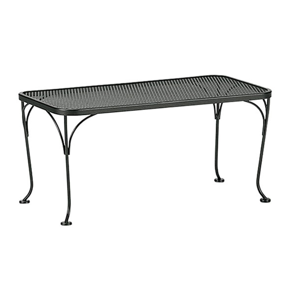 Woodard 18 inch by 36 inch Mesh Top Rectangle Coffee Table - 190041