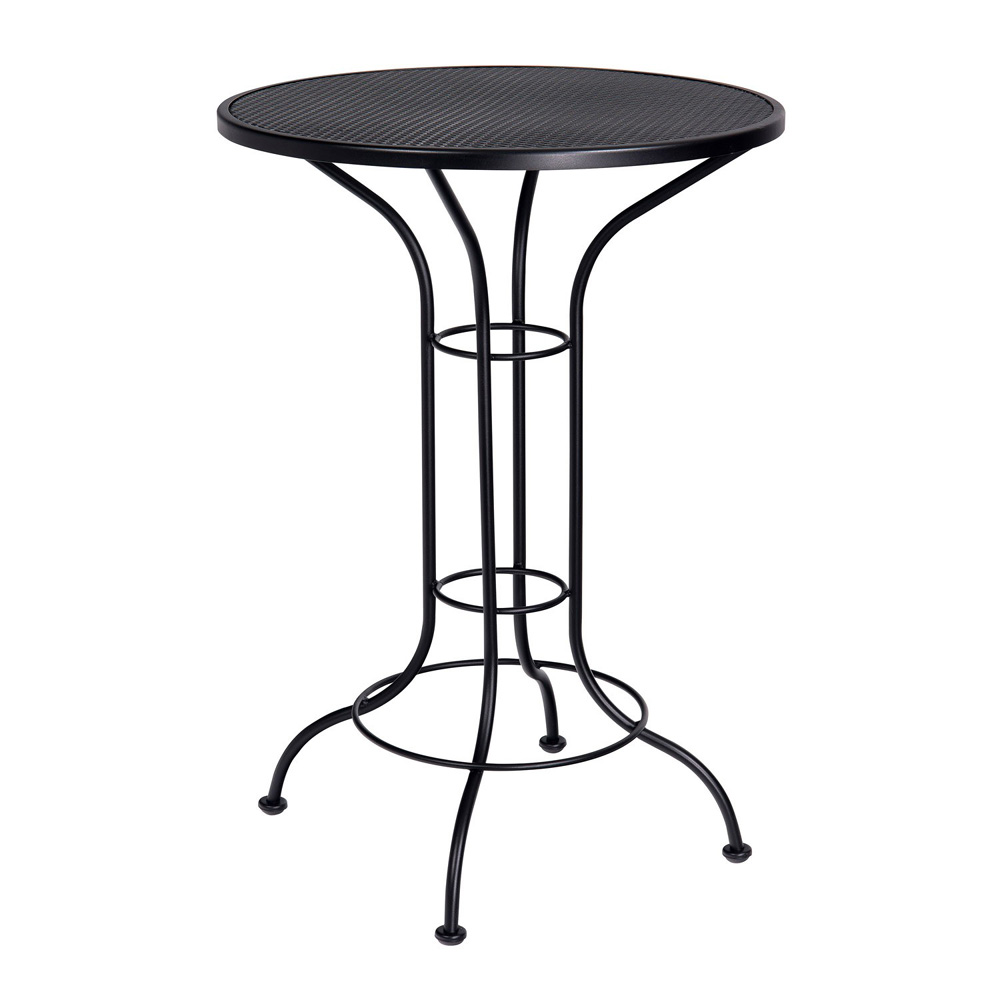 Woodard 30 Inch Round Mesh Top Bar Height Table - 190056