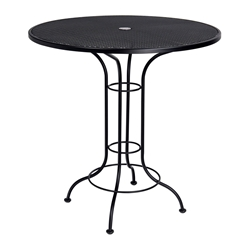 Woodard 42 Inch Round Mesh Top Umbrella Bar Height Table - 190057