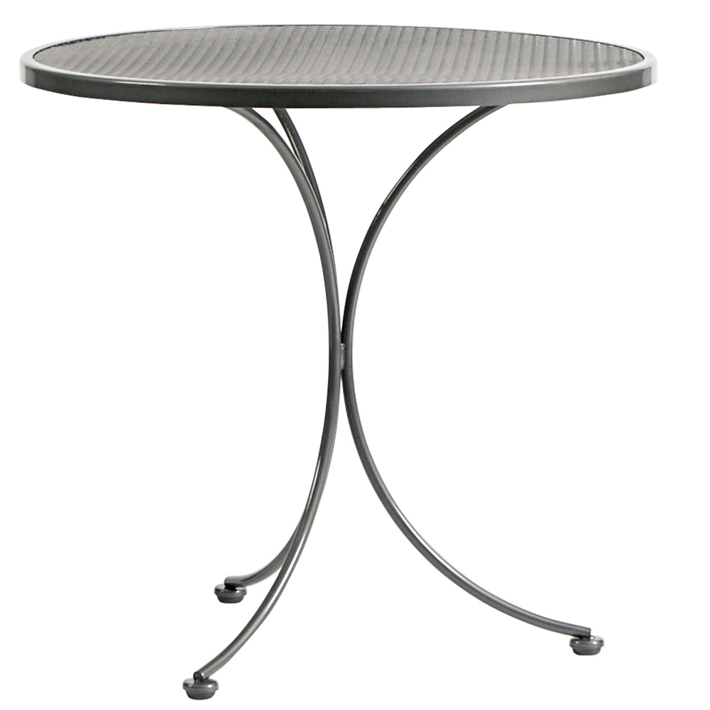 Woodard 30 Inch Round Mesh Top Bistro Table   190134