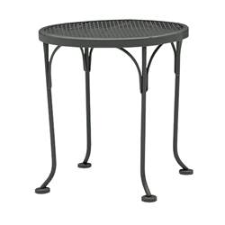 Woodard 17 inch round Mesh Top End Table - 190193