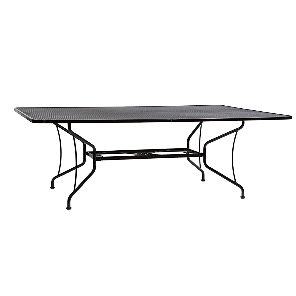 Woodard 60 inch by 84 inch Premium Mesh Top RTA Umbrella Table - 190284