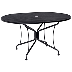 Woodard 42 Inch x 54 Inch Oval Premium Mesh Top Umbrella Table - 190303
