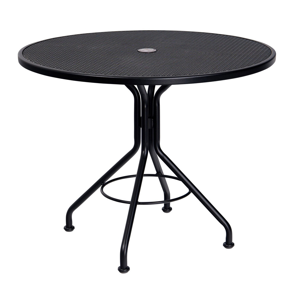 Captivating Woodard 36 Inch Contract Plus Wrought Iron Mesh Table   280135