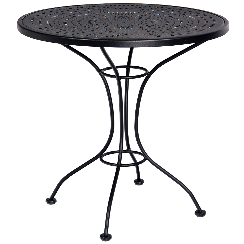 Woodard 30 Inch Pattern Metal Round Bistro Table   380032